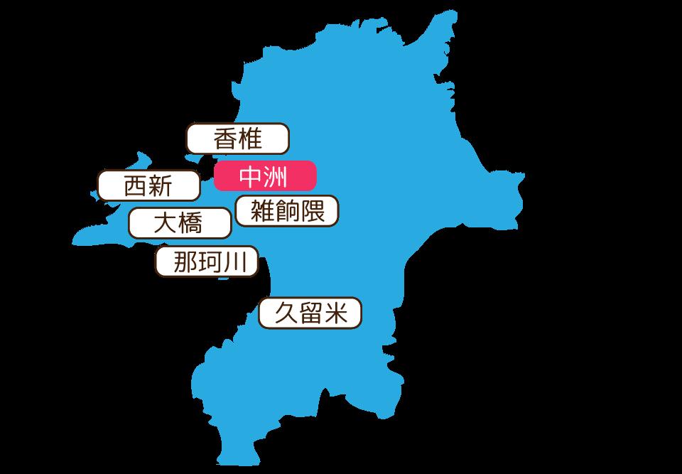 紹介エリアの地図